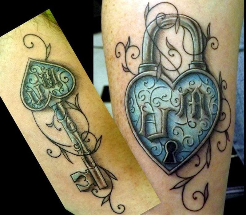 Tattoo Schlüssel Farbig