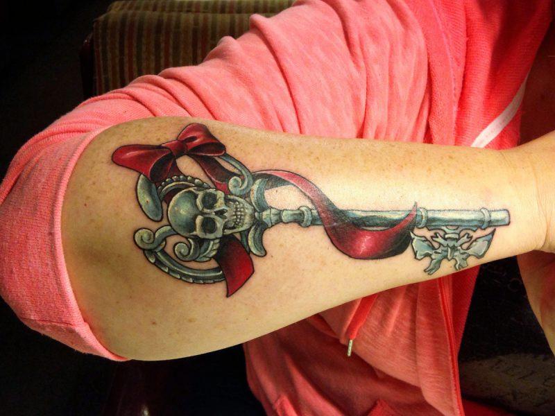Tattoo Schlüssel Skelett