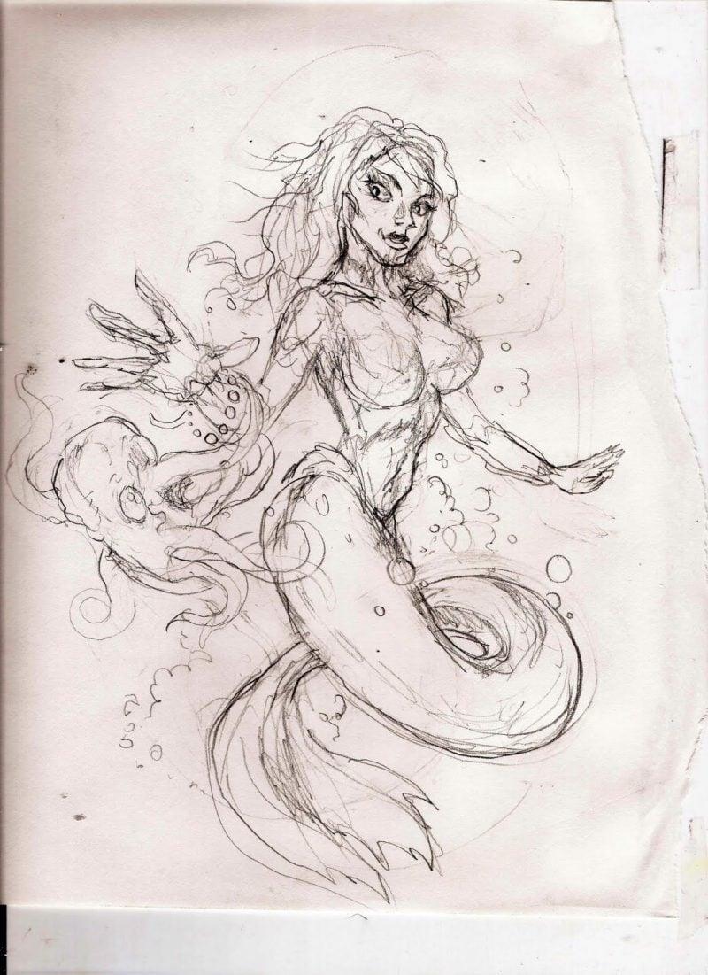 Tattoovorlagen kostenlos Meerfrau