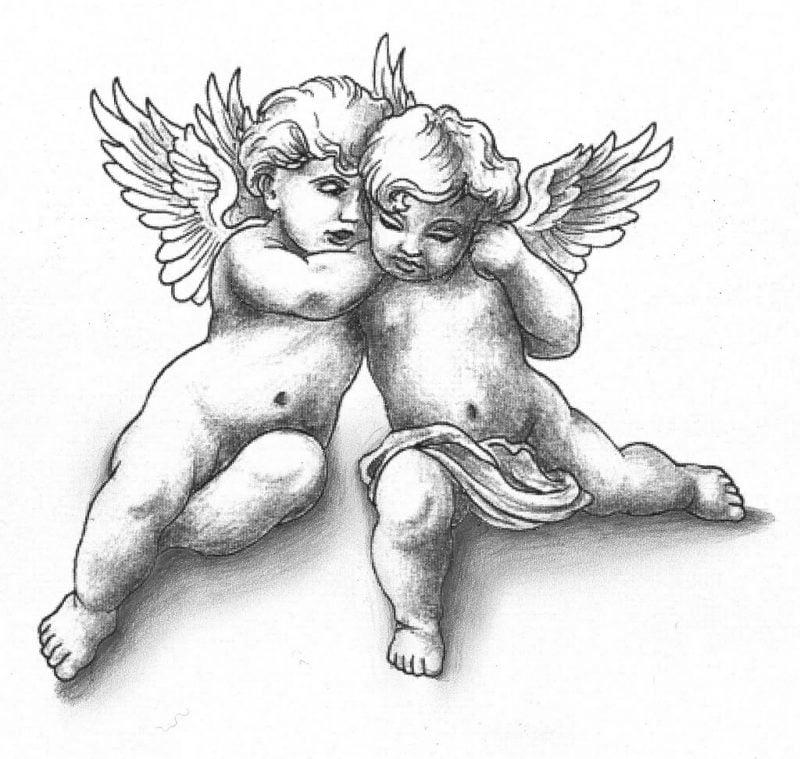 Tattoovorlagen kostenlos Baby Engel