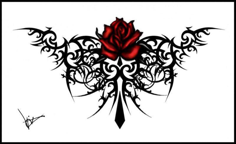 Tattoovorlagen kostenlos Tribal Rose