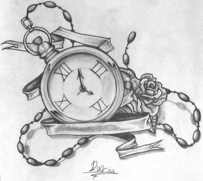 Tattoovorlagen kostenlos Uhr