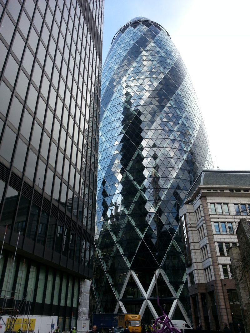 London the Gherkin organische Architektur