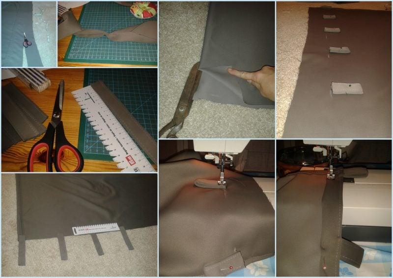 Vorhang nähen DIY Schritte