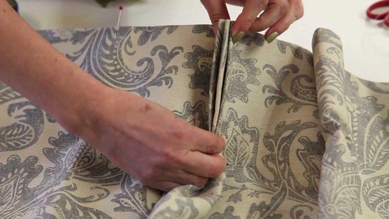 Vorhang nähen Art und Weise