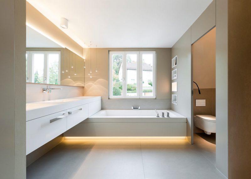 wandbeleuchtung badezimmer