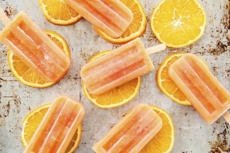 Wassereis selber machen Orangen
