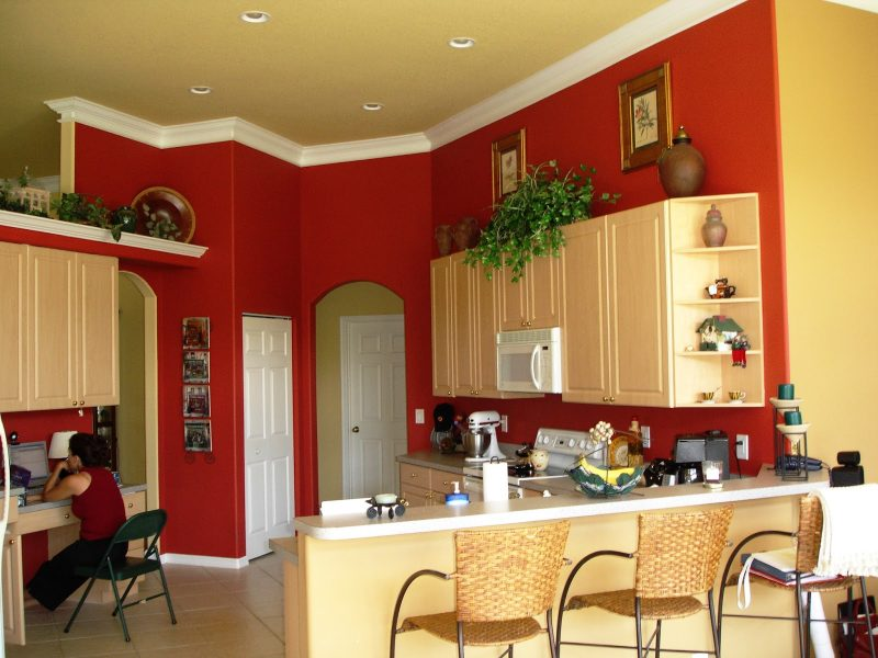 Welche Farben passen zusammen Rote Küche