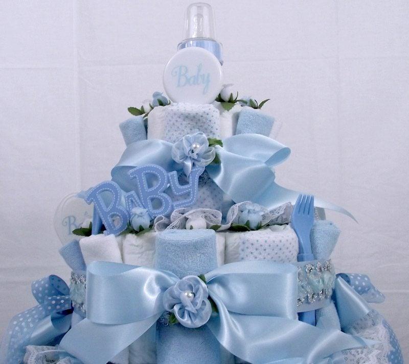 windeltorte basteln blau
