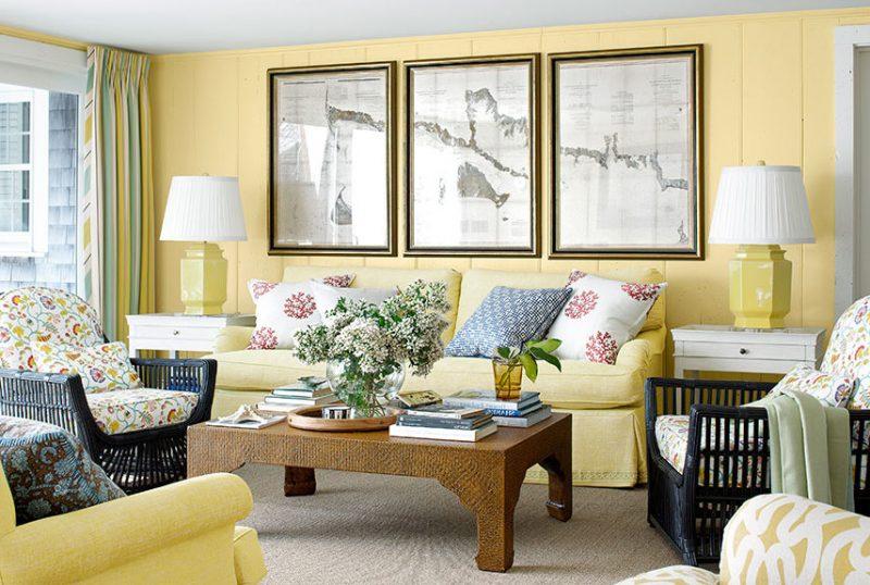 Wohnraumgestaltung Landhausstil Farbgestaltung