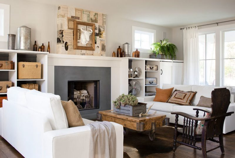 Wohnraumgestaltung Landhausstil Weiß