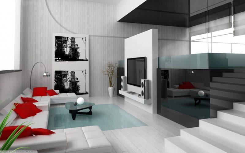 Wohnraumgestaltung minimalistische Einrichtung