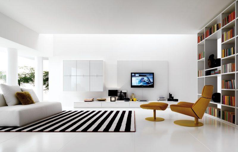 Wohnraumgestaltung minimaistische Möbel