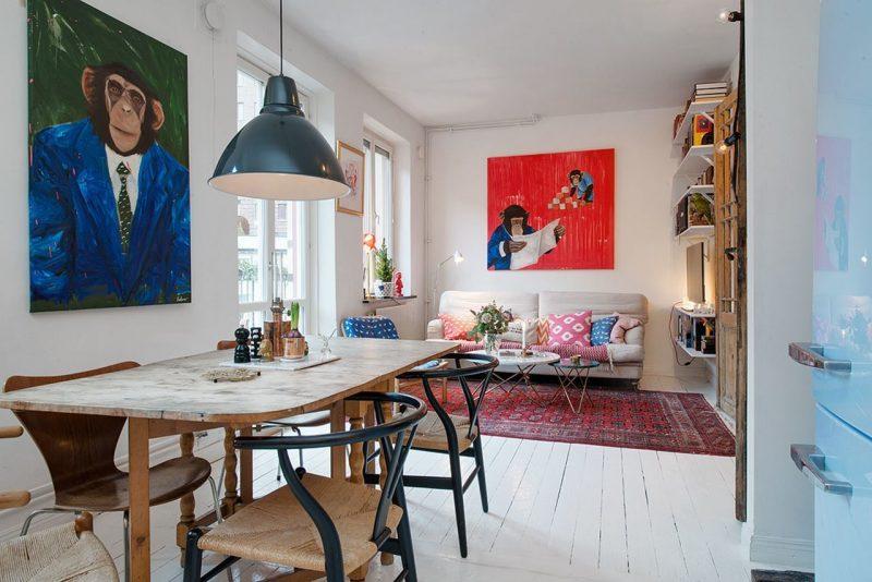 Wohnraumgestaltung Skandinavischen Deisgn