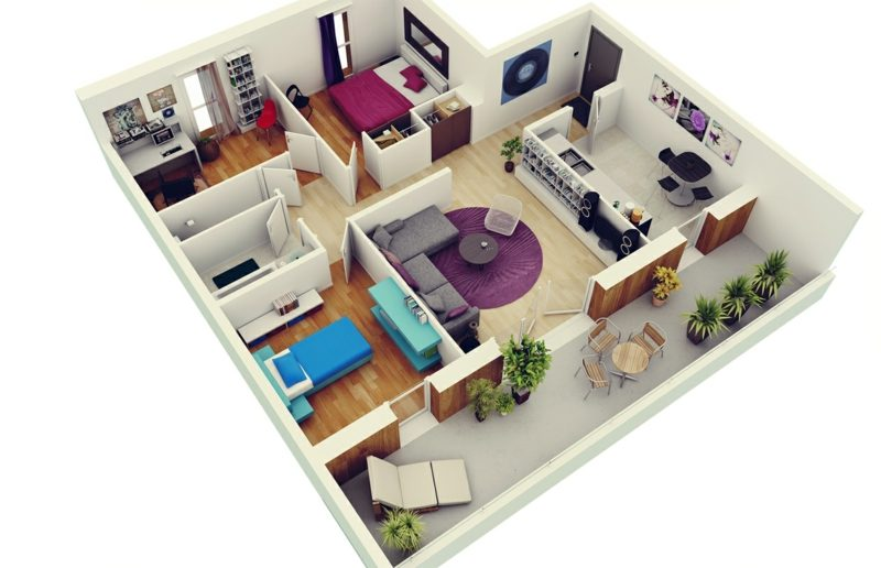 3d raumplaner bedroom apartment plans