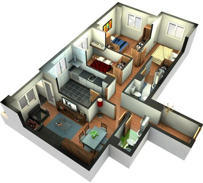 3d raumplaner gestaltung des wohnzimmers