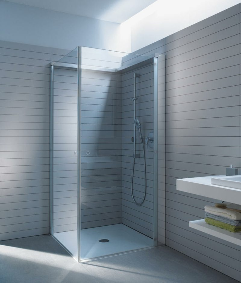 kreative Designideen Badezimmer gemauerte Dusche Duschkabine aus Glas