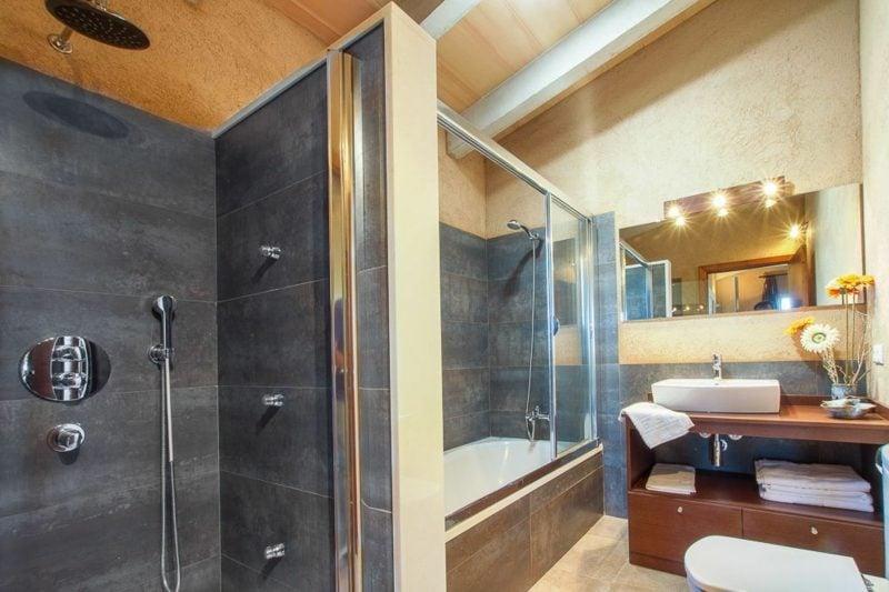 Bad Gestaltungsideen gemauerte Dusche