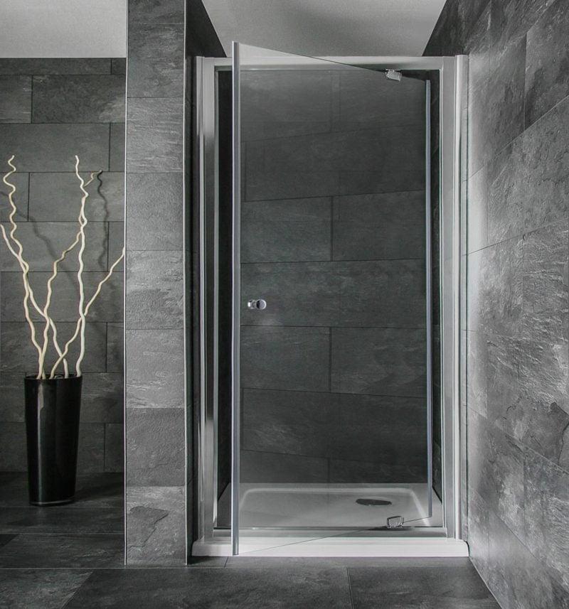 gemauerte Dusche originelle Duschkabine Granitfliesen