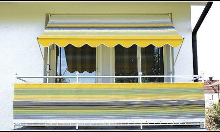 Klemmarkise Streifen Balkonmarkisen