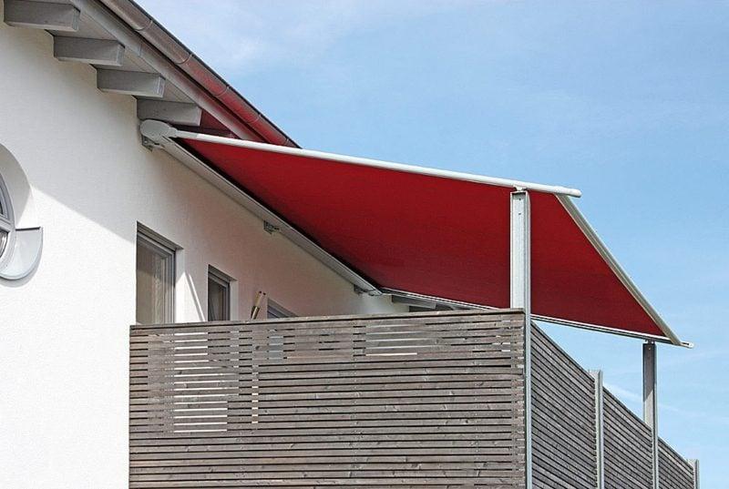 Balkon Markise im Rot