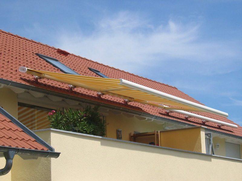 Balkonmarkisen kreative Designideen