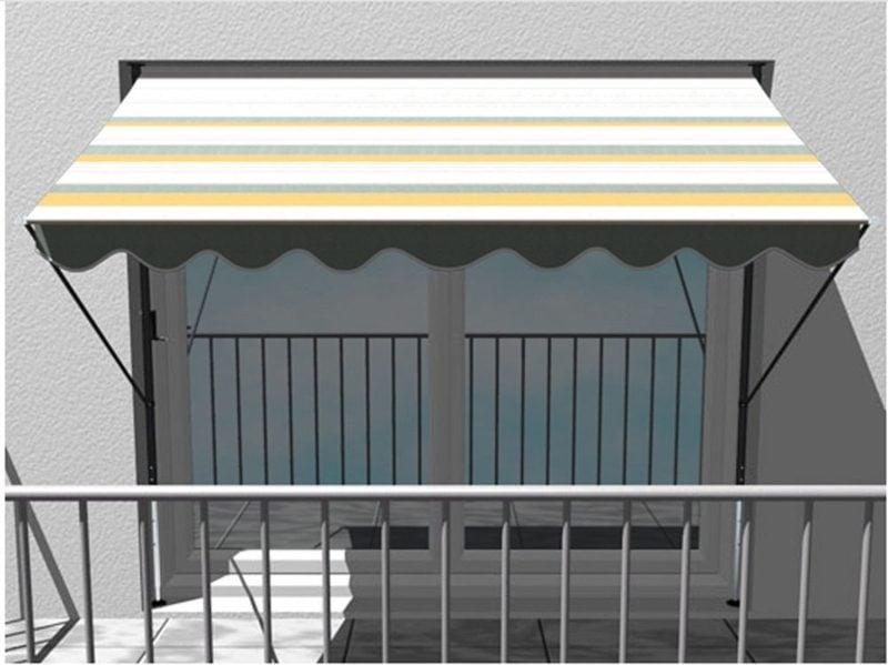 Balkonmarkise Streifen klassisches Design