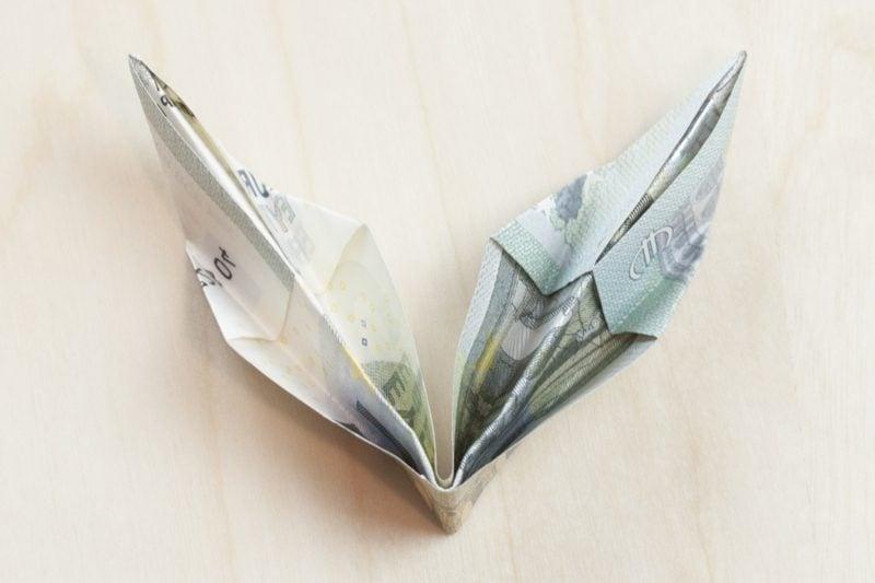 DIY Geldschein Blume