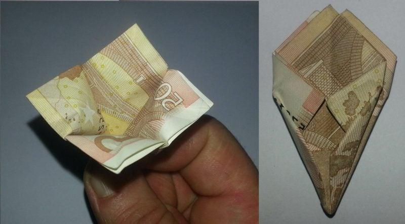 Geldschein falten Blume Ideen und Inspirationen