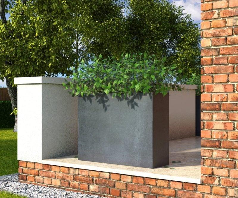 Pflanzkübel aus Beton