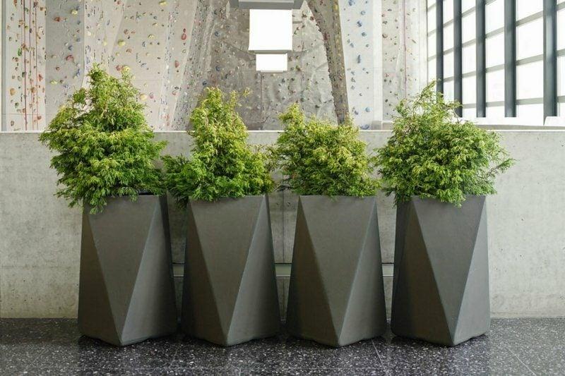 Pflanzkübel Beton geometrische Formen
