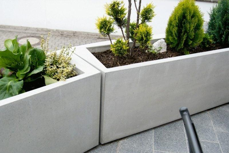 Pflanzkübel aus Beton Gestaltungsideen