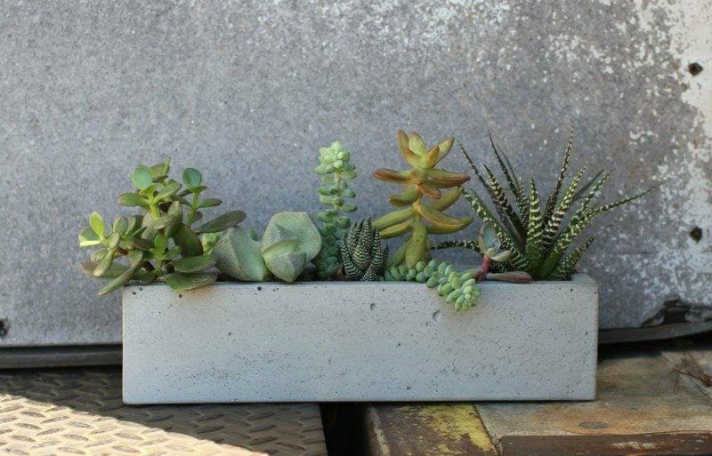 Blumenkübel aus Beton