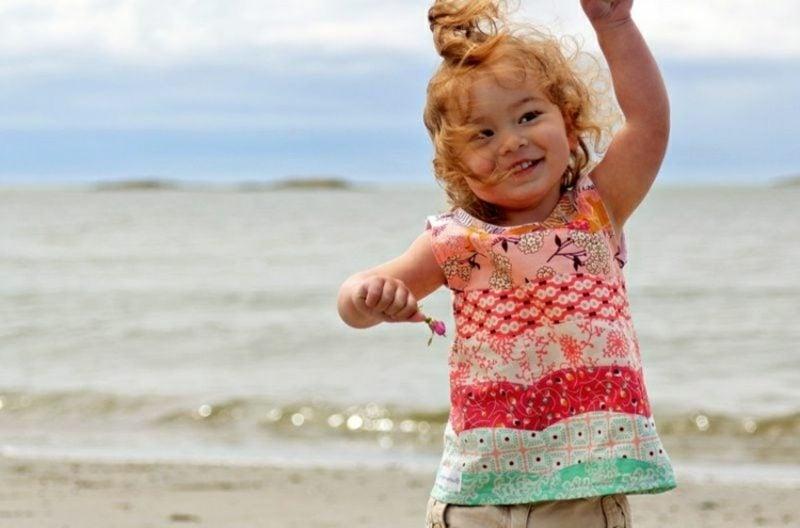 Kinderkleidung nähen originelle Bluse Patchwork