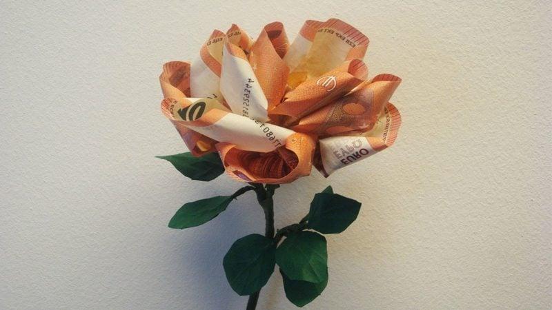 Blume Falten Geld Yy12 Startupjobsfa