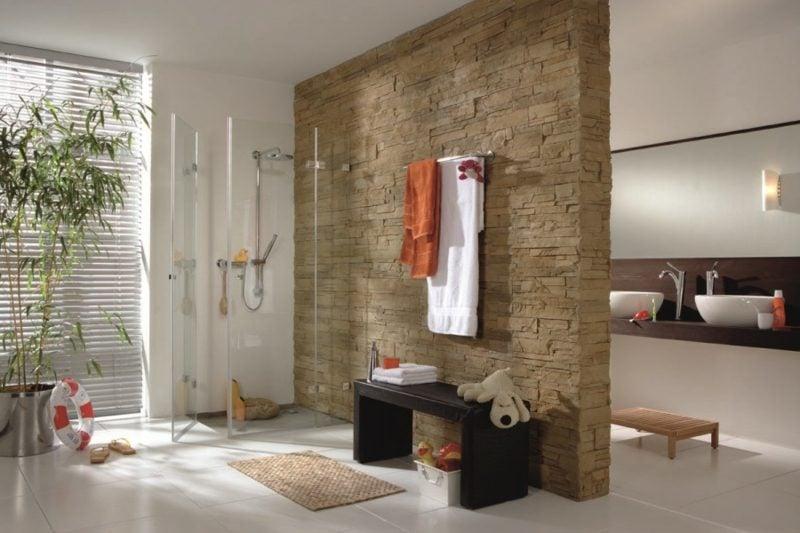 Badezimmerdesign Gemauerte Dusche