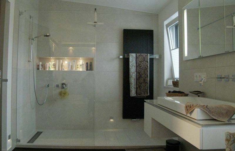 Dusche gemauert Badezimmergestaltung