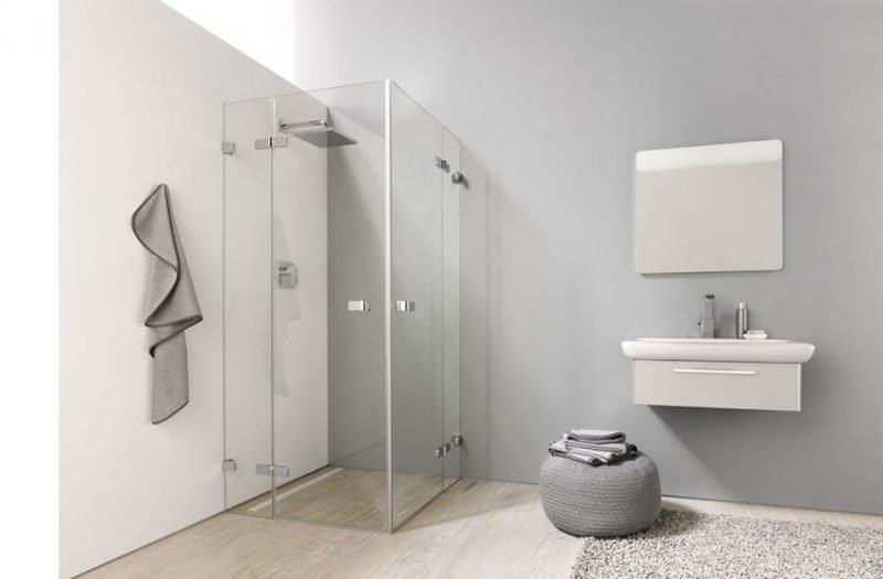 gemauerte dusche als blickfang im badezimmer vor und. Black Bedroom Furniture Sets. Home Design Ideas