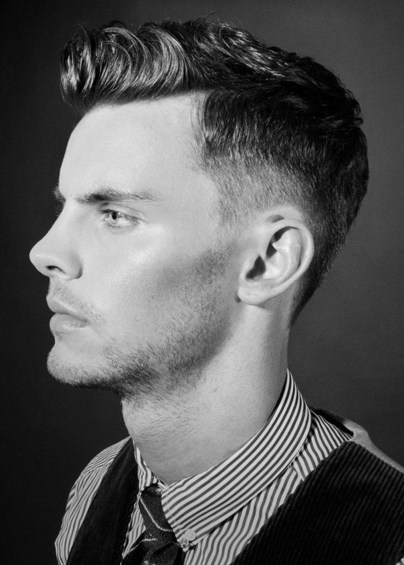 Fade Frisur moderne Männerfrisuren kurze Haare 2015