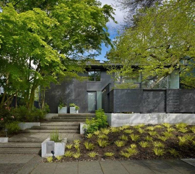 Hausfassade aus Aluminium