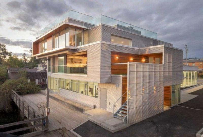 Hausfassade modernes Design Verkleidung aus Metall