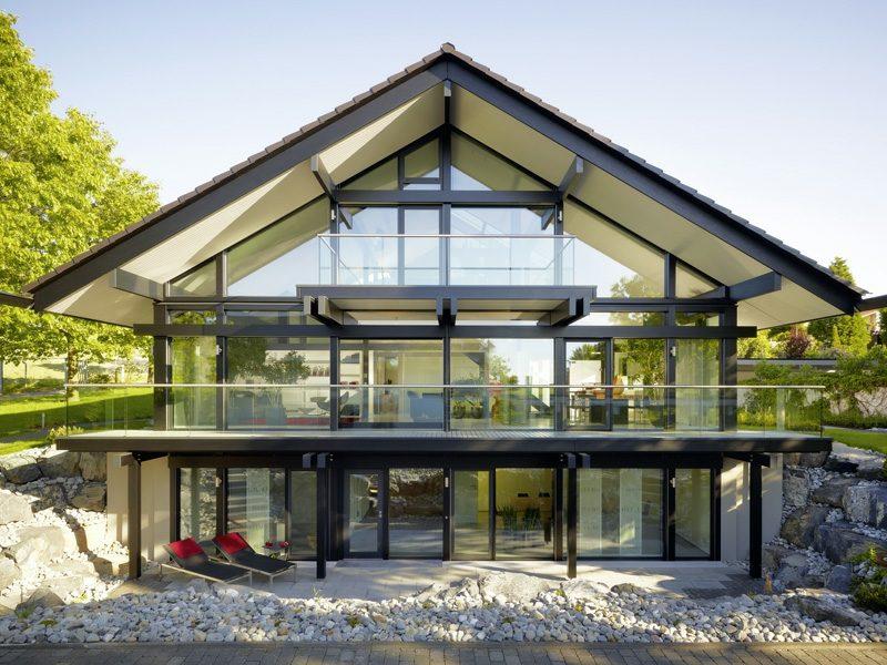 hausfassade modern. Black Bedroom Furniture Sets. Home Design Ideas