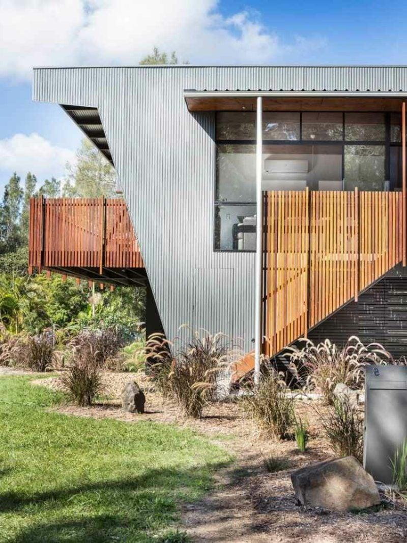 moderne Fassade ausgefallenes Design Verkleidung aus Aluminium