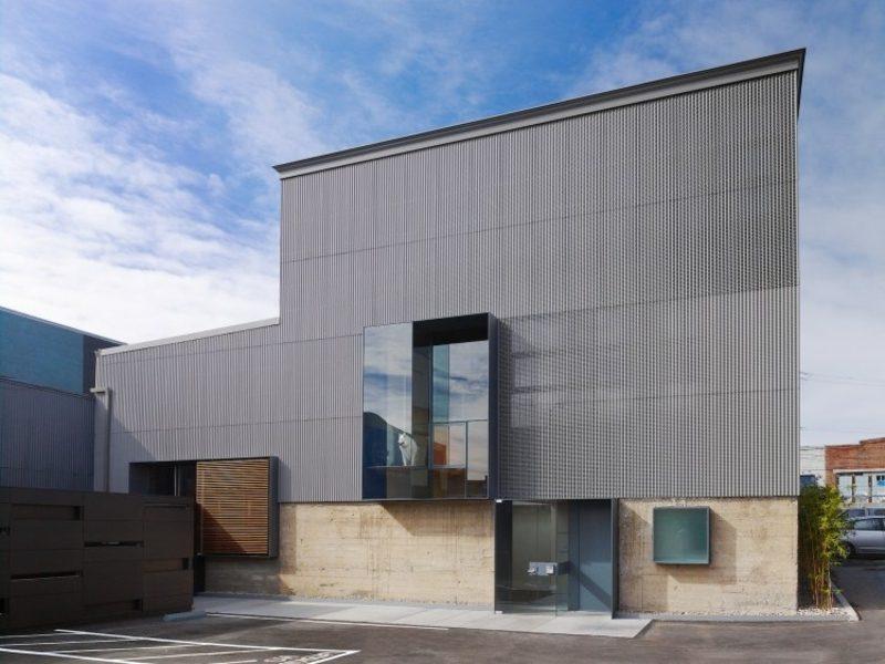 Fassadenverkleidung aus Stahl