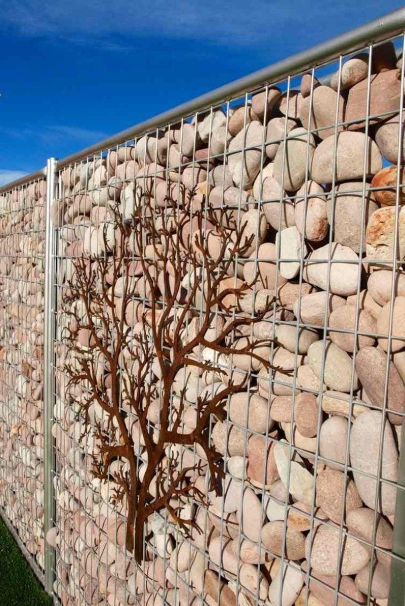 Gabionenwand aus Naturstein klassisches Design