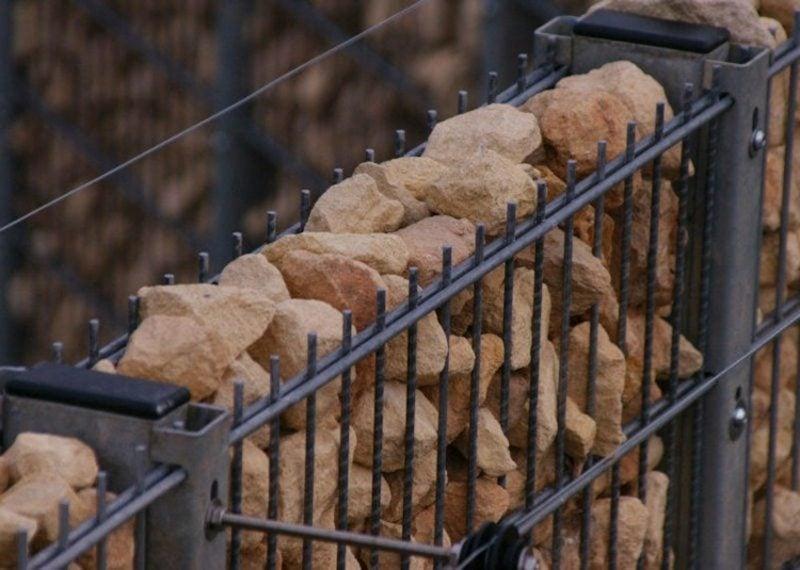Gabionenwand Stein klassischer look