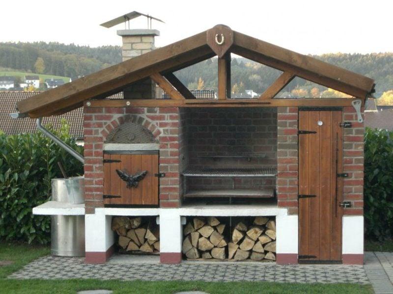 Gartengrill gemauert modernes Design