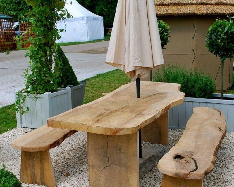 gartentisch selber bauen cool bench garden table design