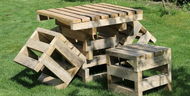 gartentisch selber bauen outdoor furniture made out of wooden pallets