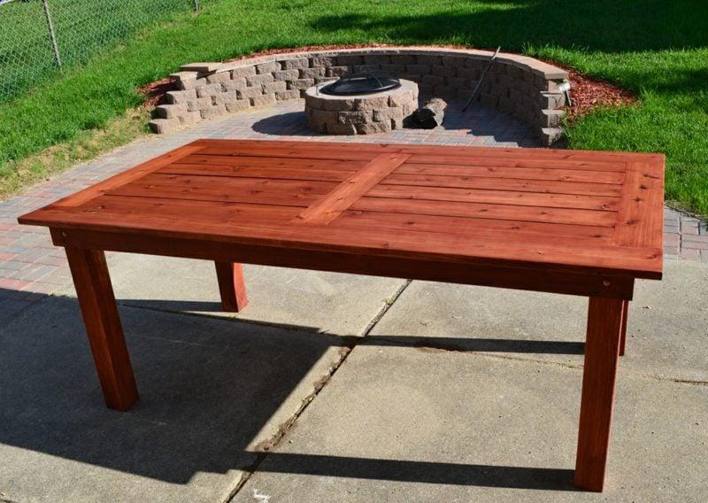 gartentisch selber bauen patio furniture